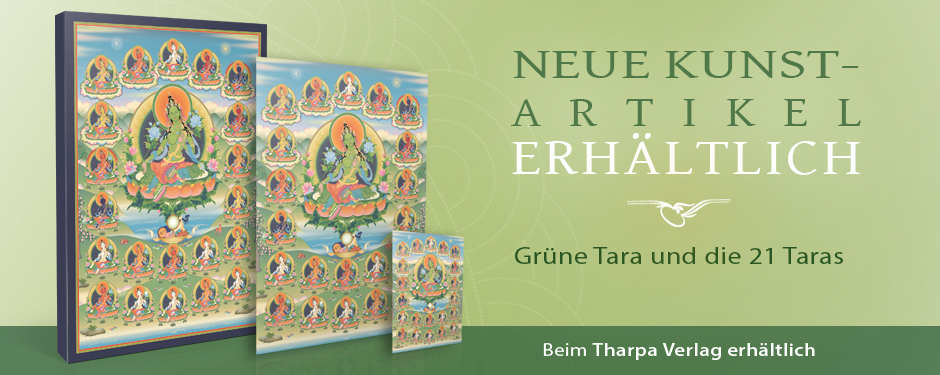 Grüne Tara und die 21 Taras