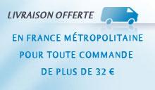 Livraison gratuite en France métropolitaine au dessus de 32 €
