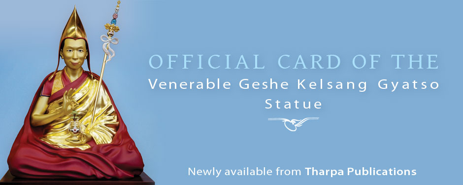 Official Card of the Venerable Geshe Kelsang Gyatso Statue